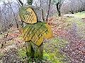 Pathside poetry in Abriachan Woods - geograph.org.uk - 1206879.jpg