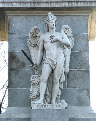 Patriotism - Allegory of Patriotism at the ''Monument to the Fallen for Spain'' in Madrid (1840), by sculptor Francisco Pérez del Valle.