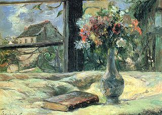 Nature morte. Vase de fleurs à la fenêtre