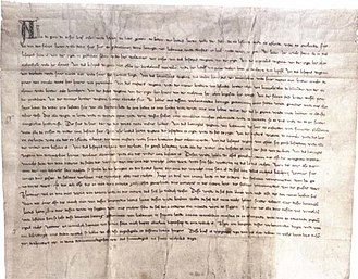 Gediminas - A peace agreement between Gediminas and the Order