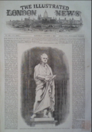 Peel Statue by John Gibson, The Illustrated London News. 1 October 1853