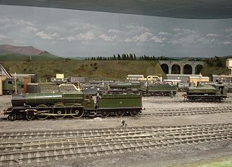 Pendon Museum - Engine shed on the Dartmoor scene