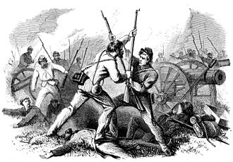 Battle of Glendale - 1864 engraving depicting the fight over McCall's artillery at Glendale