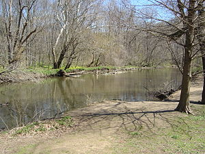 Pennypack Creek - Pennypack Creek near Pine Road in Fox Chase