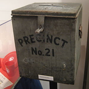 Old ballot box, Wentworth Museum, Pensacola, F...