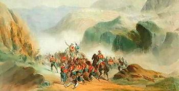 Battle of Calatafimi, C. Perrin lithograph, 1861