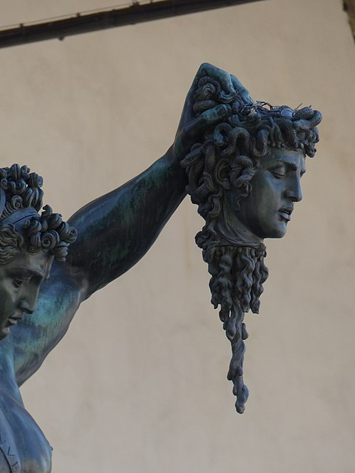 Benvenuto Cellini, Perseo con la testa di Medusa (particolare della testa di Medusa