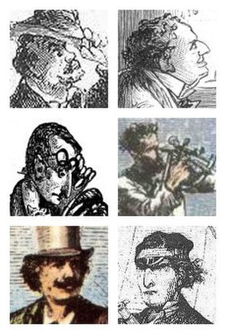 Journey Through the Impossible - Five characters from Verne's books who appear in the play: T. Artelett (renamed Tartelet), Doctor Ox, Lidenbrock, Nemo, and Ardan. The sixth, Hatteras, is mentioned as the protagonist's father.