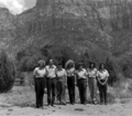 Personnel, 1982- Zion Natural History Association (ZNHA) employees. Personnel (left to right)- Christine Dick, Joel Fishbien (b1ea8b22243742a8b305246159712553).tif