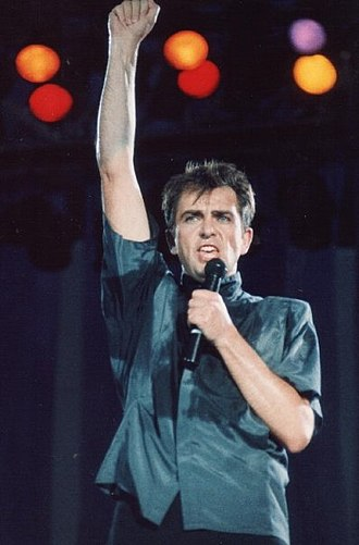 Peter Gabriel - Gabriel performing in Giants Stadium, New Jersey, June 1986.
