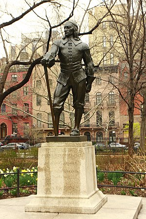 Stuyvesant Square - Gertrude Vanderbilt Whitney's statue of Peter Stuyvesant in the western half of the park