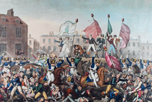 Painting of the Peterloo Massacre