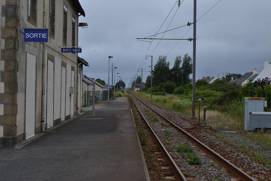 Railway station of Batz-sur-Mer (Loire-Atlantique, France).
