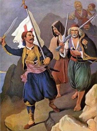 Liberation of Kalamata - Petros Mavromichalis revolts Messenia by Peter von Hess.