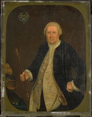 image of  Portrait of Petrus Albertus van der Parra (1714-1775).  Alternative title(s): Petrus Albertus van der Parra (1714-75). Gouverneur-generaal (1761-75).[1] Portret van Petrus Albertus van der Parra, Gouverneur-Generaal van Nederlands Indië (1761-1775).