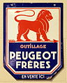 Peugeot enamel advert sign at the den hartog ford museum pic-087.JPG