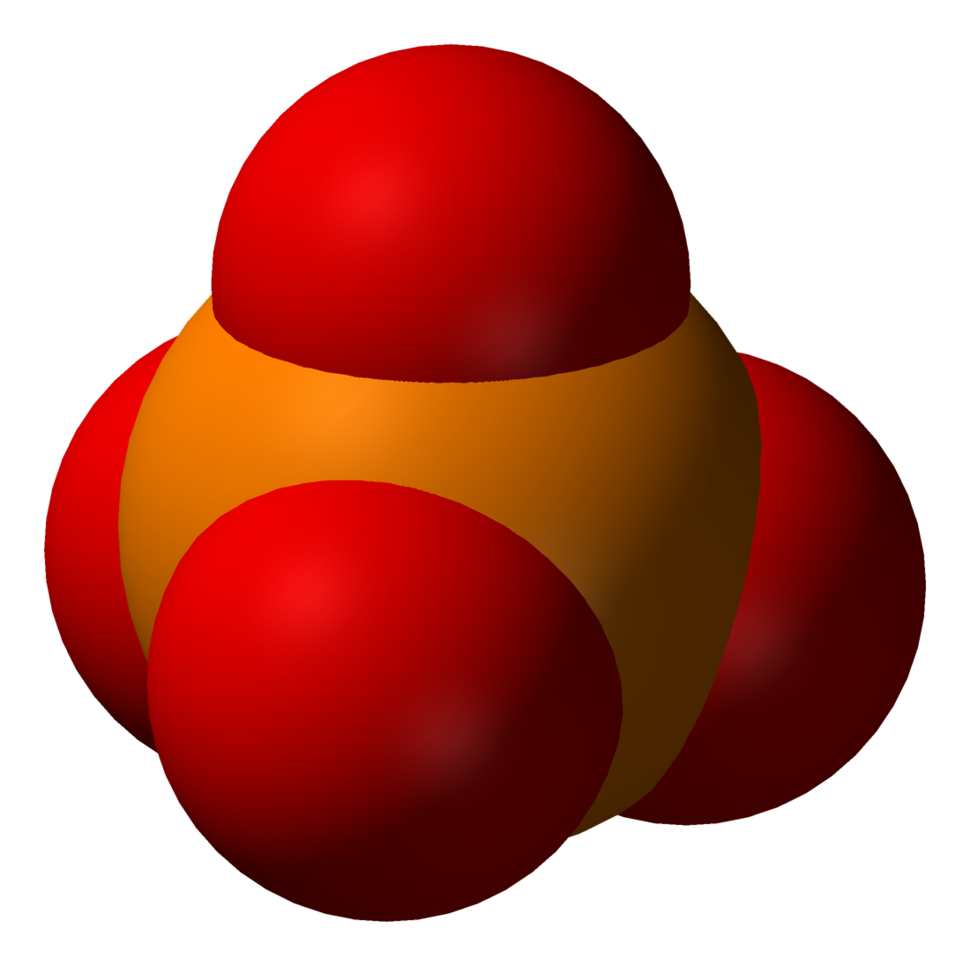 Space-filling model of phosphate