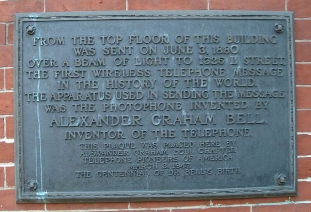 Photophone plaque (no copyright applies)