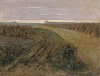 Piet Mondriaan - Fields with stacked sheaves of rye - A86 - Piet Mondrian, catalogue raisonné.jpg