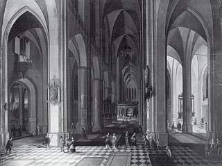 Interior of a Gothic Church by Candlelight