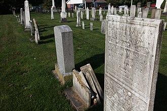 Pioneer Cemetery (Sidney, New York) - Image: Pioneer stones