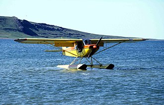 "Piper PA-18 Super Cub - PA-18-150 ""Super Cub"" floatplane at Tinney Cove (Bathurst Inlet)"