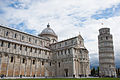 Pisa Cathedral (Duomo di Pisa) (forefront), The Leaning Tower of Pisa (background), Piazza dei Miracoli (-Square of Miracles-). Pisa, Tuscany, Central Italy-2.jpg