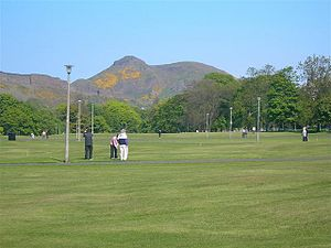 Pitch and putt - Pitch and Putt on Bruntsfield links; UK