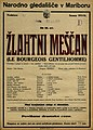 Plakat za predstavo Žlahtni meščan v Narodnem gledališču v Mariboru 23. januarja 1926.jpg