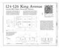 Plan and Elevations and Outbuilding - 124-126 King Avenue (House and Outbuilding), Huntsville, Madison County, AL HAER AL-159 (sheet 1 of 1).png