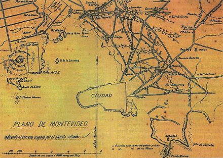 Map of Montevideo during the Guerra Grande (1843-1851). PlanoMontevideoSitioGrande.JPG