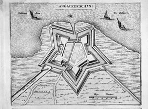 Bad Nieuweschans - Map of the fortification