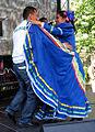 Plaza Cultural Iberoaméricana 2013, 17a03b el pastor Salvador Terrazas Cuellar y una bailarina.jpg