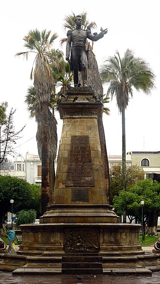 Antonio José de Sucre - Monument to Antonio José de Sucre in the constitutional capital of Bolivia, Sucre