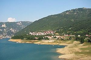 Plužine - Image: Pluzine town