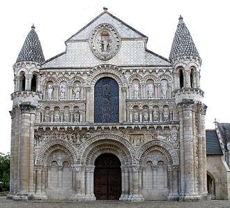 Église Notre-Dame la Grande, Poitiers - West front of Église Notre-Dame la Grande
