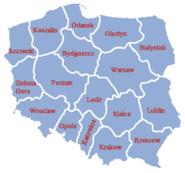 Poland administrative division 1957 literki