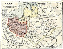 A map depicting Poland