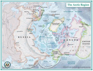 Arctic polar region on the Earths northern hemisphere