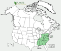 Polygala curtissii US-dist-map.png