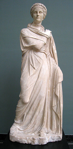 Polyhymnia - Roman statue of Polyhymnia, 2nd century AD, depicting her in the act of dancing.