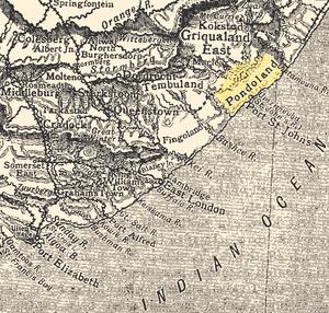 Pondoland - Image: Pondoland Eastern Cape Map 1911
