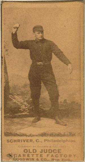 Pop Schriver - Image: Pop Schriver baseball card