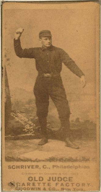 Pop Schriver - Image: Pop Schriver baseball card