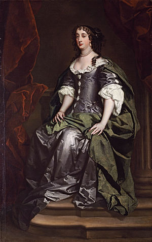 Elizabeth Cresswell - Portrait of Lady Castlemaine, mistress of King Charles II by Peter Lely