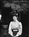 Portrait of woman in Edwardian dress (3094325626).jpg