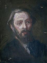 Portret van de beeldhouwer Pier Pander (1864-1919)