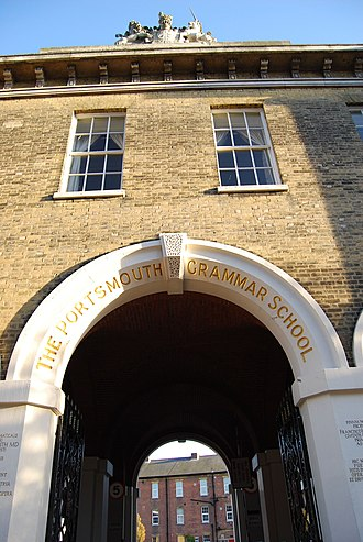 Portsmouth Grammar School - The Main Arch, The Portsmouth Grammar School