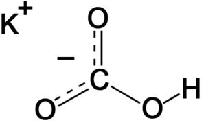 Potassium bicarbonate - Image: Potassium bicarbonate