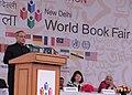 Pranab Mukherjee addressing at the inauguration of the New Delhi World Book Fair-2014, at Pragati Maidan, in New Delhi on February 15, 2014. The Union Minister for Culture, Smt. Chandresh Kumari Katoch is also seen.jpg